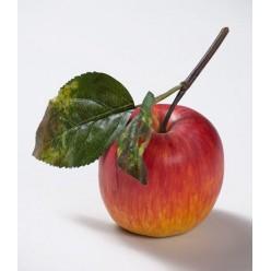 Яблоко красно-желтое на веточке д-7,5 см 12/144