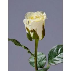 Роза Анабель бело-зеленая в-52 см, в-4,д-3 см 12/144