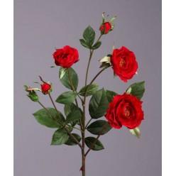 Роза Вайлд ветвь красная в-41 см 3цв,3бут 24/144