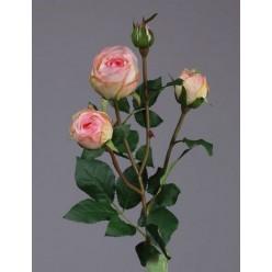 Роза Пале-Рояль ветвь нежно-розовая в-47 см 3цв, 1бут 12/60