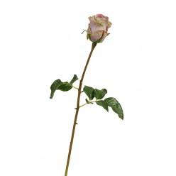 Роза Аква пудрово-сиреневая с лаймом (бутон - в-8, д- 7 см) в-56 см 12/144