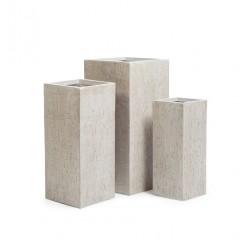 Кашпо Ergo Cork кубическое высокое белый песок