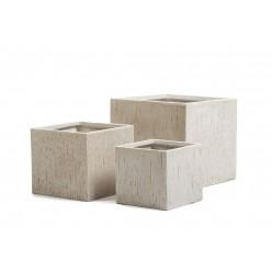 Кашпо Ergo Cork куб белый песок