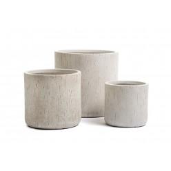 Кашпо Ergo Cork цилиндр белый песок