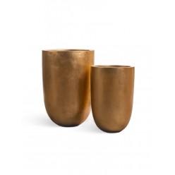 Кашпо Effectory Metall высокий конус-чаша
