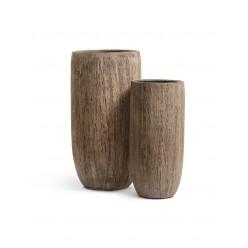 Кашпо Effectory Wood высокий округлый