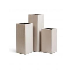 Кашпо Effectory Beton высокий куб