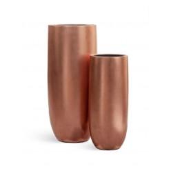 Кашпо Effectory Metall высокий округлый конус