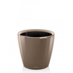 Кашпо Lechuza Classico LS 43 серо-коричневый лакированный