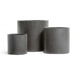 Кашпо Effectory Beton Цилиндр Тёмно-серый бетон