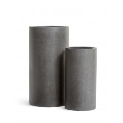 Кашпо Effectory Beton Высокий цилиндр Тёмно-серый бетон